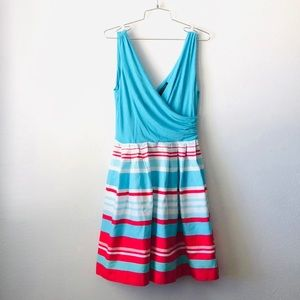 Lauren Ralph Lauren pretty striped fitted dress